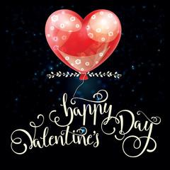 Valentines day illustration card background happy Valentine's da