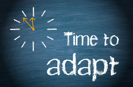 Time to adapt with clock and text