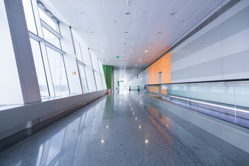 Empty interiors at the airport gate