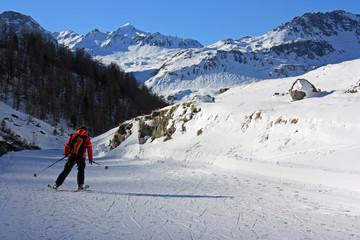 Ski de randonnée à Val-d'Isère en Savoie, France