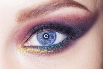 female eye evening makeup young beautiful girl brash image