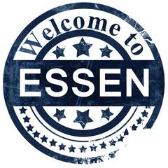 Essen stamp on white background