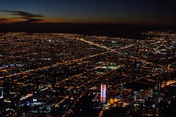 Bogota city from Monserrate in Bogota, Colombia.