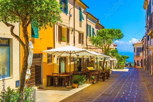 Wall mural Street of Capoliveri village in Elba island, Tuscany, Italy, Europe.