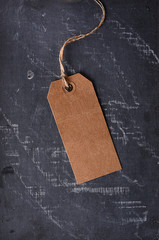 brown paper tag with string