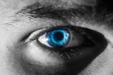 Charming blue eyes macro