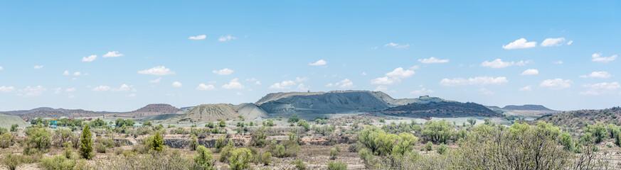 Panorama of the diamond mine in Jagersfontein