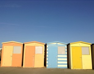 Beach houses by Seaford