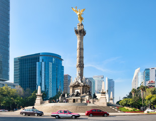 Photo sur cadre textile Mexique The Angel of Independence in Mexico City
