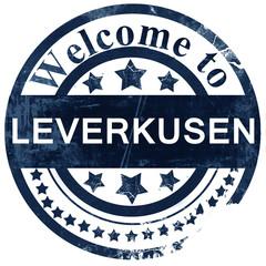 Leverkusen stamp on white background