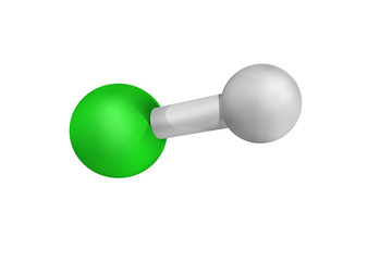 Hydrochloric acid, used in the chemical industry as a chemical r