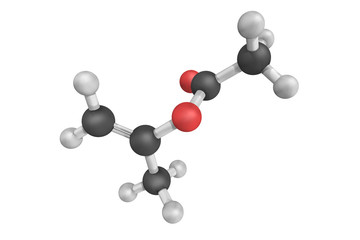 Isopropenyl acetate, an organic compound, which is the acetate e