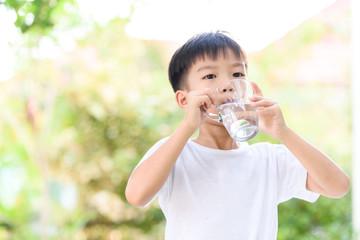 Boy drink water