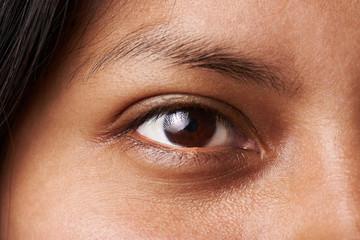 Macro of woman eye