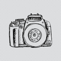 Vector sketch illustration -photo camera