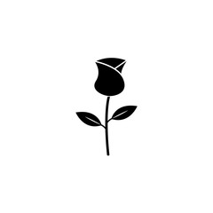 Rose flower for Valentine's day solid icon, for love and 8 march, vector graphics, a filled pattern on a white background, eps 10.