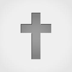 jesus cross grey icon