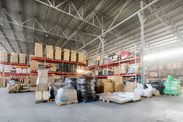 Large hangar warehouse industrial and logistics companies.