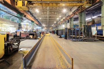 Rusty steel I-beams.