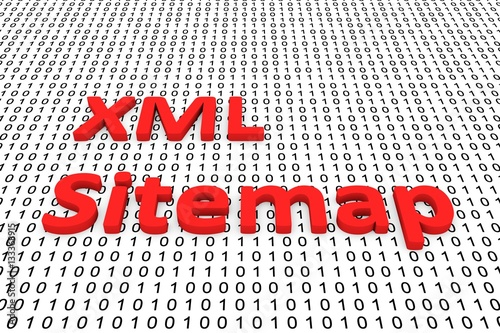 xml sitemap in the form of binary code 3d illustration stock photo