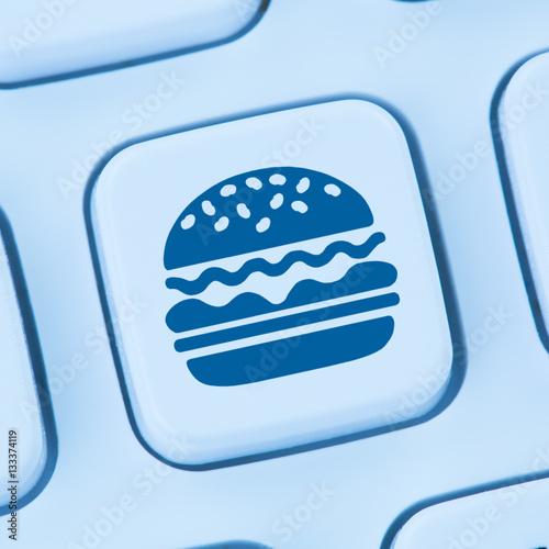 hamburger cheeseburger fast food essen online bestellen liefern stockfotos und lizenzfreie. Black Bedroom Furniture Sets. Home Design Ideas