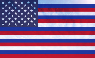Russia and America Combined flag
