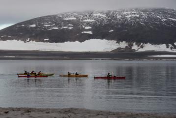 Arctic kayaking in Svalbard, Spitsbergen