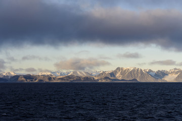 Arctic landscape in Svalbard, Spitsbergen