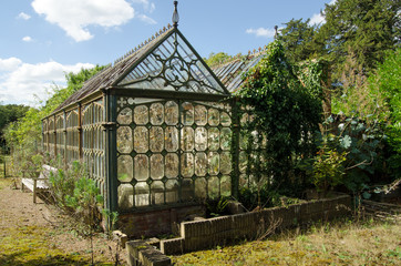 Dilapidated Victorian greenhouse