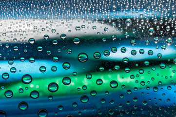 water drops - condensation, close - up
