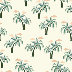Palm trees Seamless pattern.