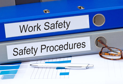 Work Safety and Safety Procedures Binder in the Office