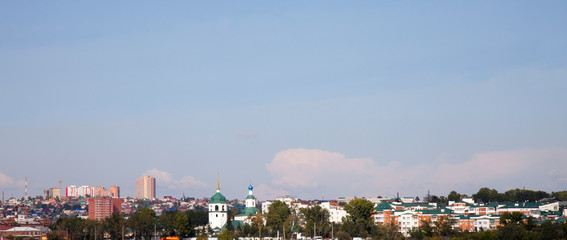 View of the Irkutsk, Russia. Pravoberezhny district.