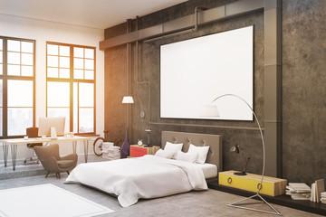 Bedroom: black walls
