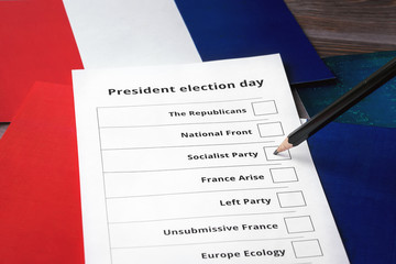 Presidential election 2017 in France. Selection of a candidate France's Socialist party.