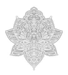 coloring mandala lotus