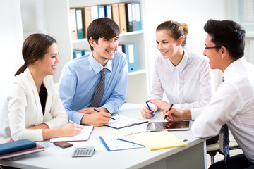 Business people working at modern office