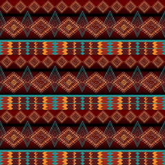 ethnic tribal motifs. navajo seamless pattern