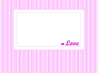 Card with heart and word love
