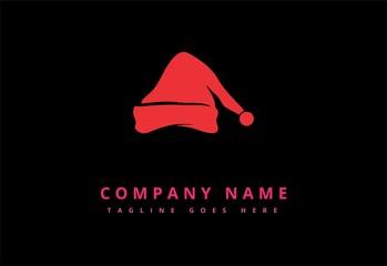 Christmas hat logo