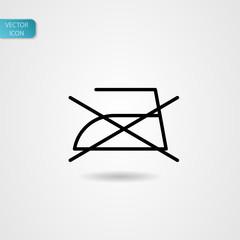 'Ironing symbol' symbol, vector icon, black on gray background