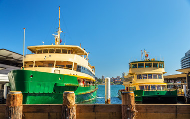 City Ferries at Circular Quay in Sydney, Australia