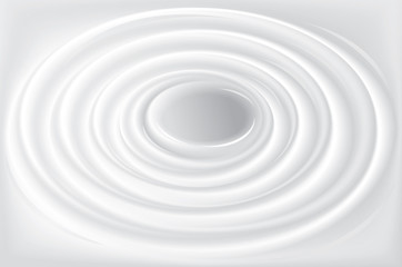 Vector background with concentric circles of water