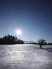 Zimowy krajobraz Warmia