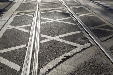 Tram Track on Street in Saragossa