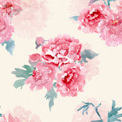 vintage seamless texture with stylized flowers for your design.