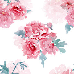 colorful seamless texture with stylized flowers for your design.