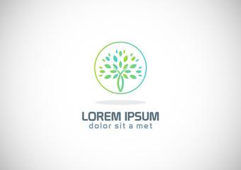 green tree abstract logo