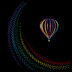 Balloon over a rainbow