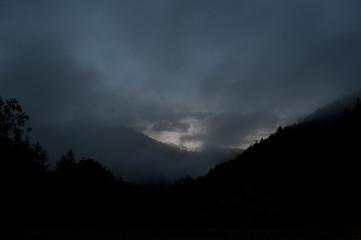 Abendlicht in den Bergen